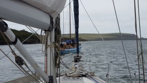 Boat leaving Padstow