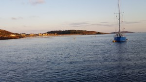 New Grimsby Sound at sunset