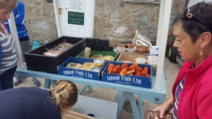 Ann's fresh fish stall Tresco